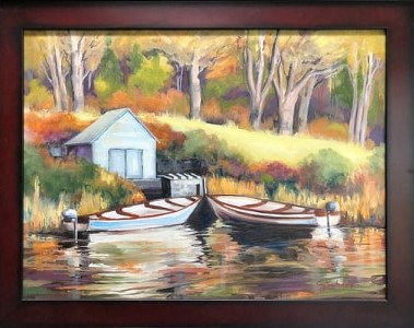 Sunlit Moorage by connie scherr