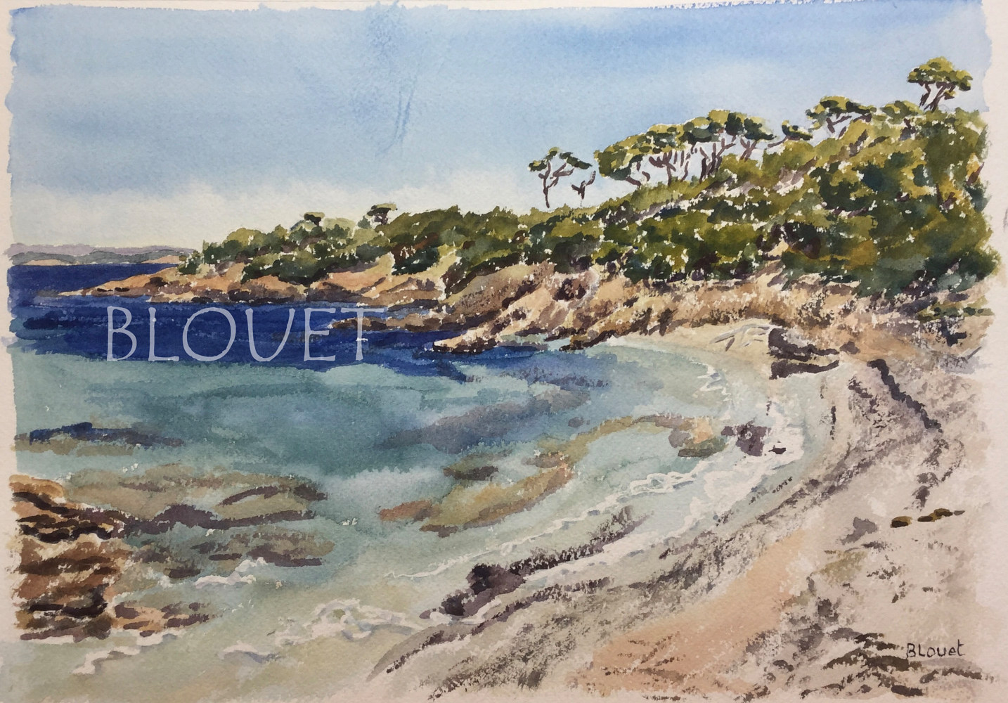 #18 Porquerolles 3 by Sophie Dassonville