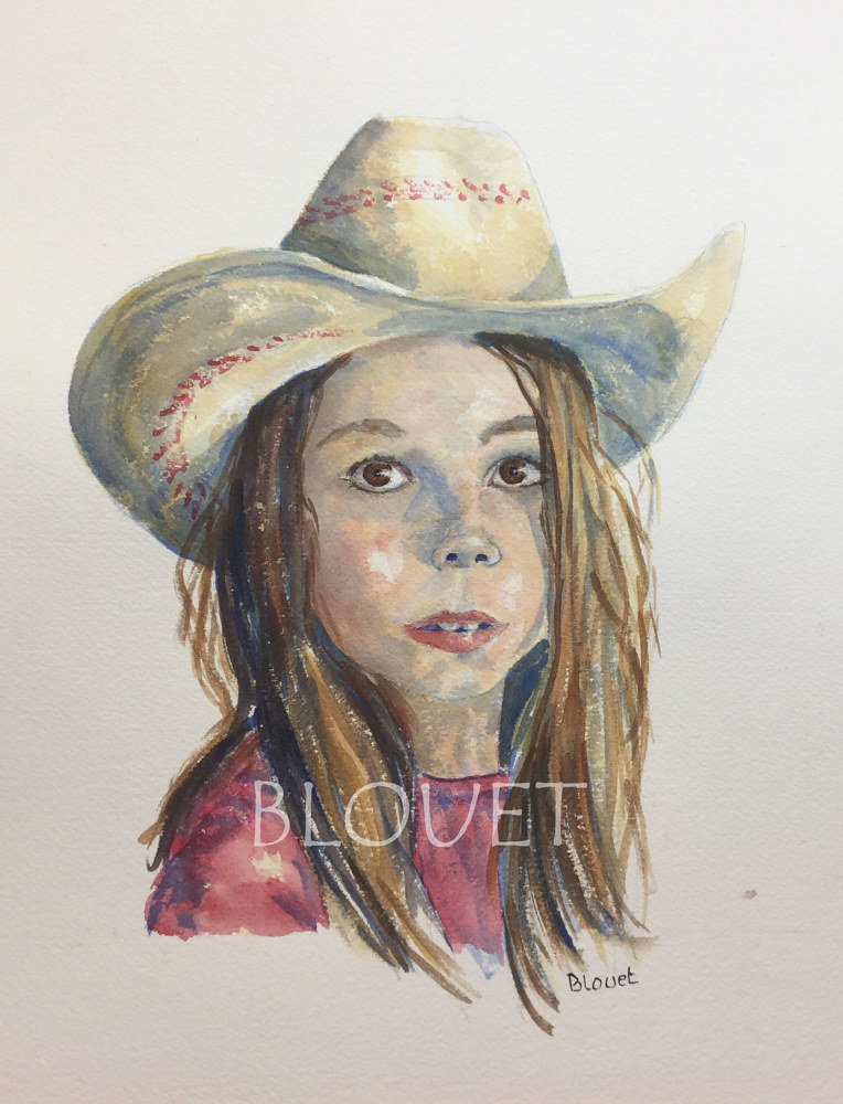 Watercolor #20 Alice 5 by Sophie Dassonville