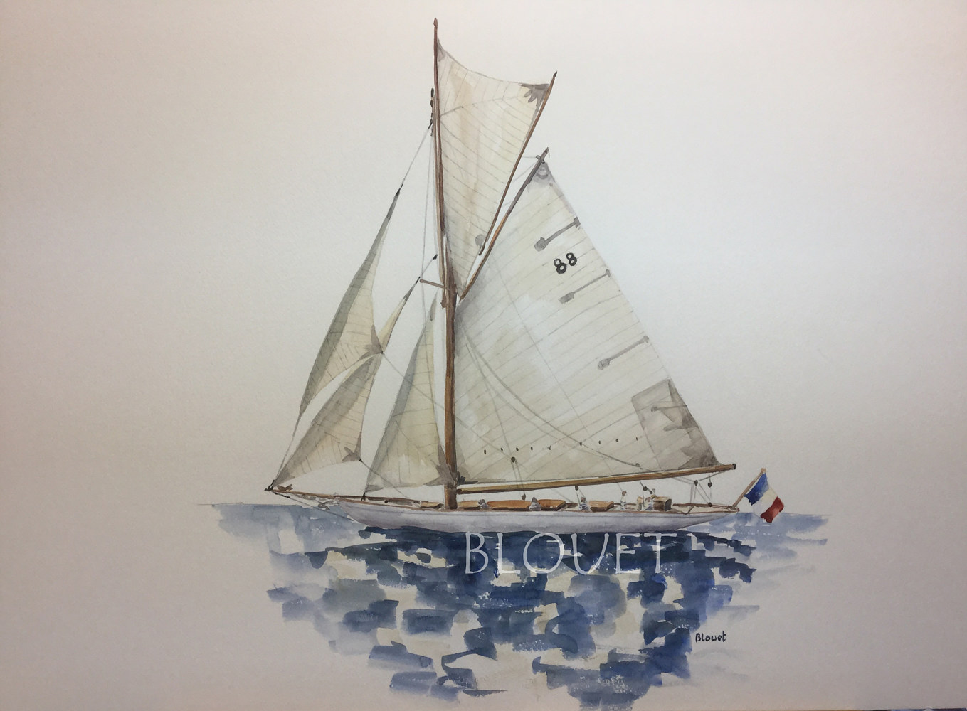 Watercolor Sails # 2 by Sophie Dassonville
