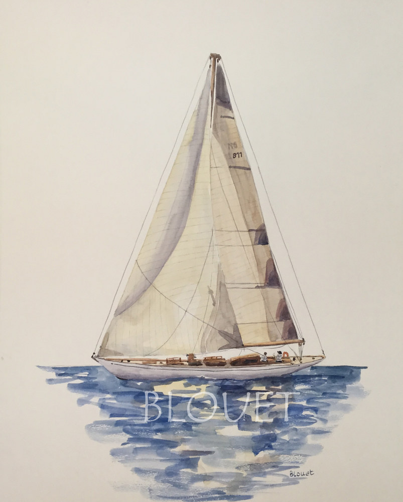 Watercolor Sails # 7 by Sophie Dassonville