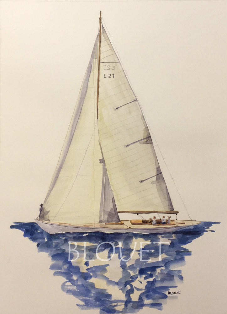 Watercolor Sails # 8 by Sophie Dassonville