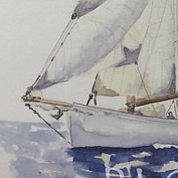 Watercolor Sails #1 by Sophie Dassonville