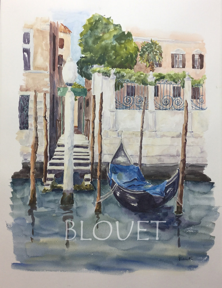 Watercolor Venice # 5 by Sophie Dassonville