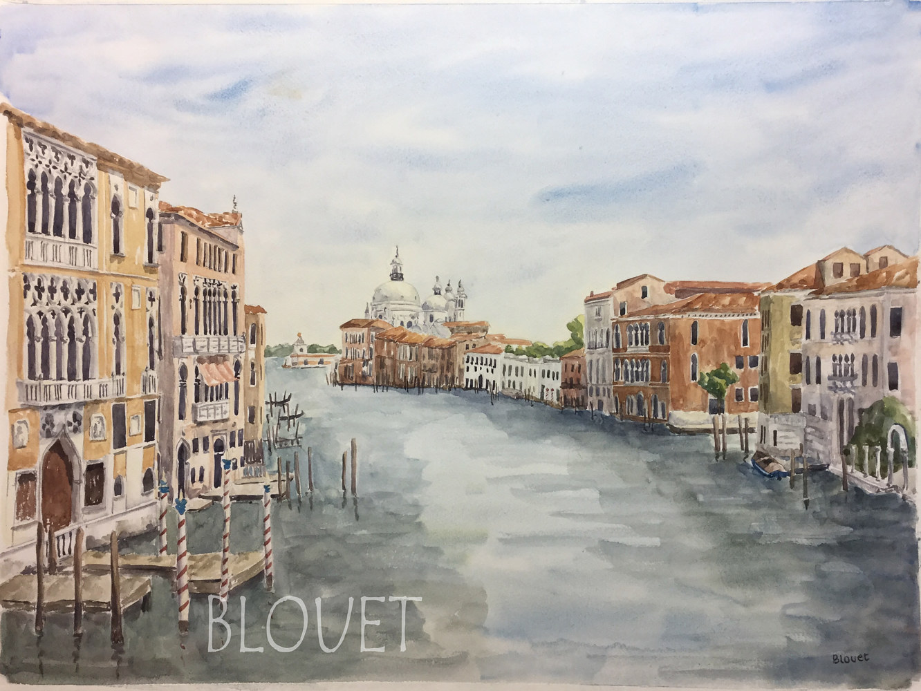 Watercolor Venice # 1 by Sophie Dassonville