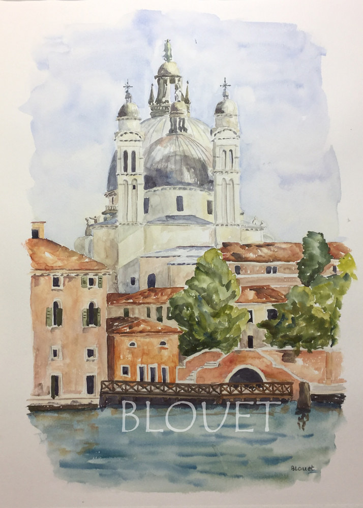 Watercolor Venice # 3 by Sophie Dassonville