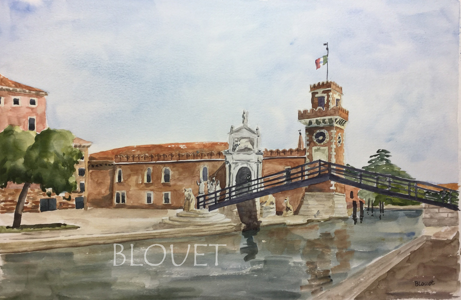 Watercolor Venice # 2 by Sophie Dassonville