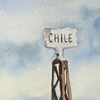 Watercolor Chile # 8 by Sophie Dassonville