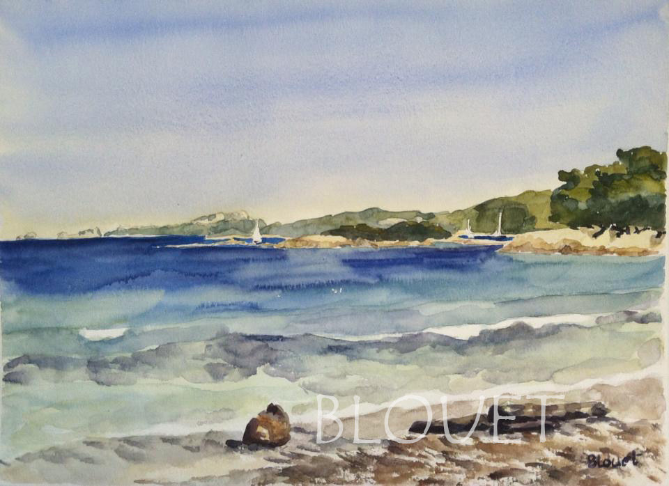 Watercolor Coast # 7 by Sophie Dassonville