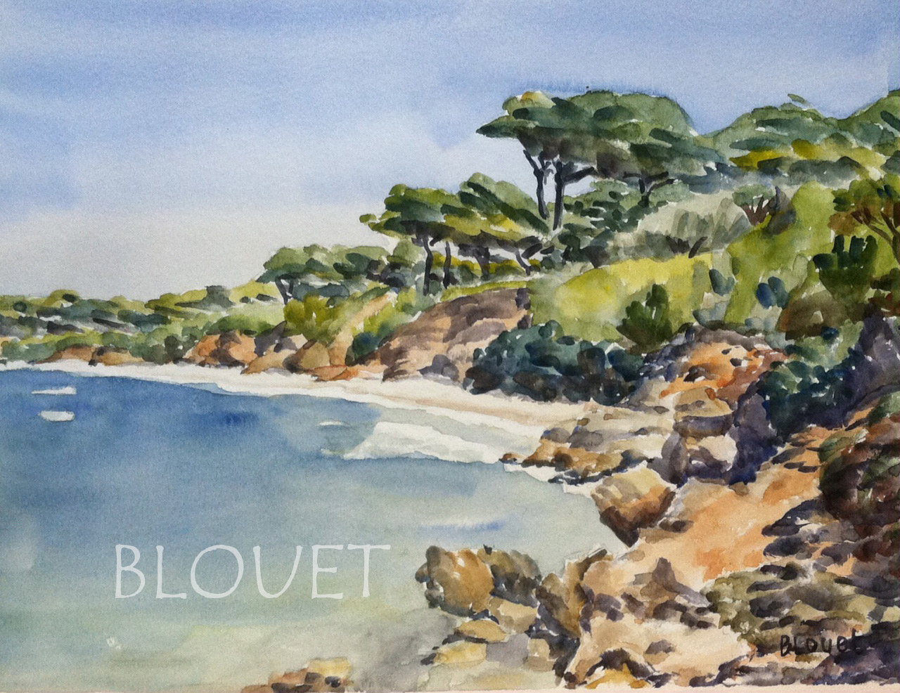 Watercolor Coast # 11 by Sophie Dassonville