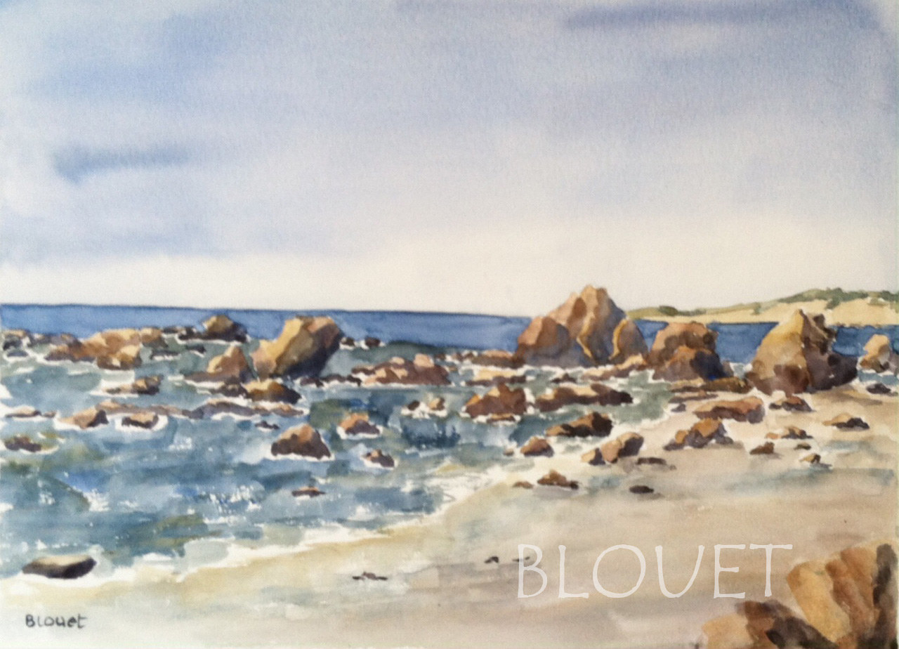 Watercolor Coast # 14 by Sophie Dassonville