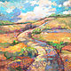 Acrylic painting A Bend in the Road by Marty Husted