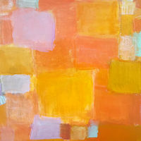 Acrylic painting Orange You Glad? by Sarah Trundle