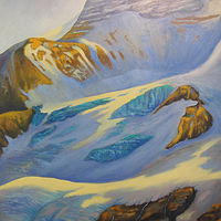 Oil painting Mt Athabasca Glacier by Brent Ciccone