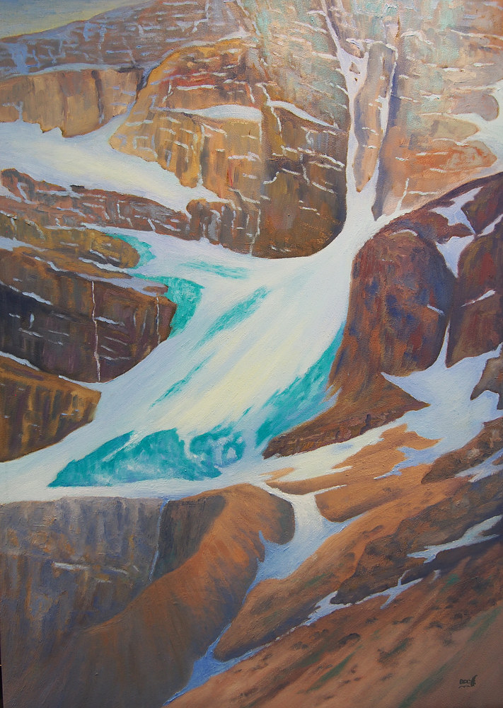 Oil painting Stanley Glacier by Brent Ciccone
