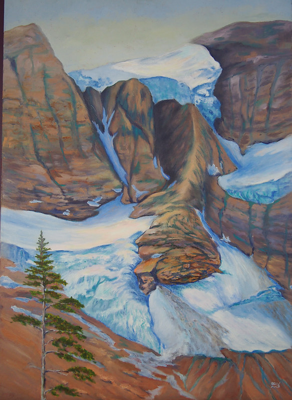 Oil painting Tumbling Glacier by Passionate Painters