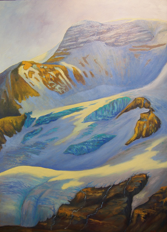 Oil painting Mt Athabasca Glacier by Passionate Painters
