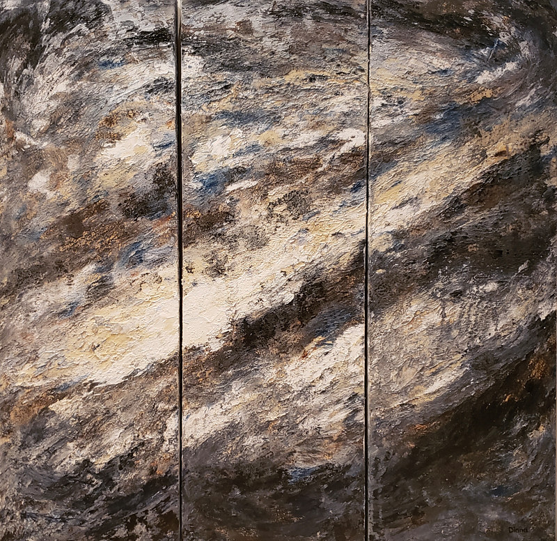 Acrylic painting Stone Wash by Diana Harris by Passionate Painters