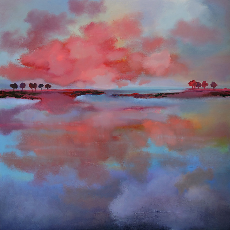 Painting Evening Reflection by Svetlana Barker