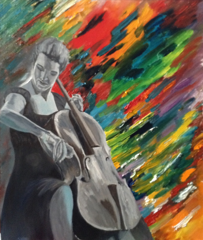 Oil painting The Colour of Music by Jeanne Urban by Passionate Painters