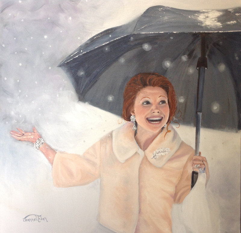 Wished for Snow by Jeanne Urban by Passionate Painters