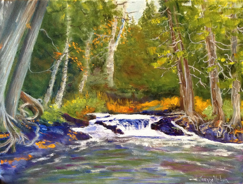 Kayaking to the Waterfall by Passionate Painters