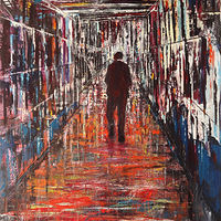 Acrylic painting The Corridor by David Tycho