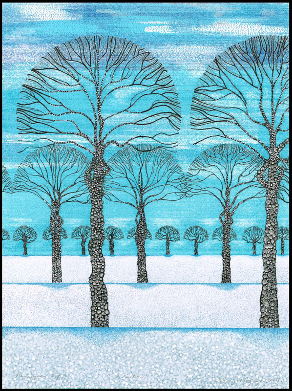 Print Blue Sky Winter by Lawrie  Dignan