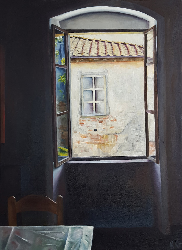 Oil painting La Frata, Italy by Kathleen Gross