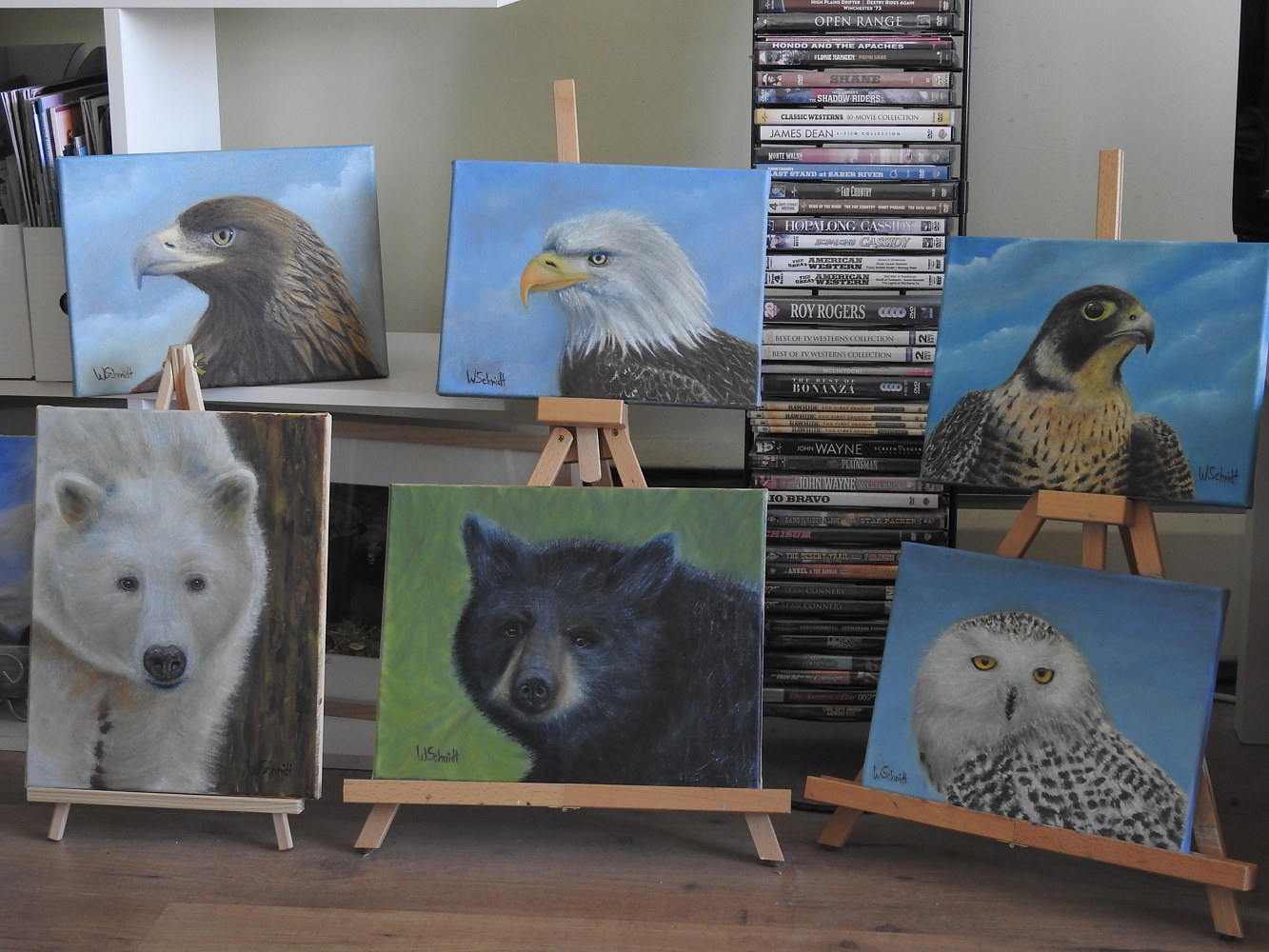 Wildlife Oil Painting Collection by Vicki Allesia