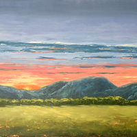 "Oil painting ""Blue Ridge Sunset"" by Anne French"