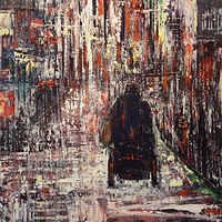 Acrylic painting Street Life No. 2 by David Tycho
