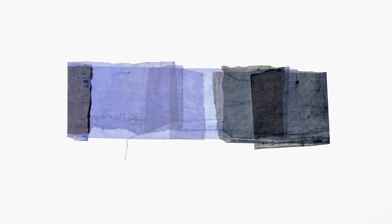 Drawing Blue-black, violet, bright and clear by Marilyn Joyce