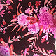 Painting Pink and Red tonal Bouquet on Deep Red-Matter Ground by Michael Shyka