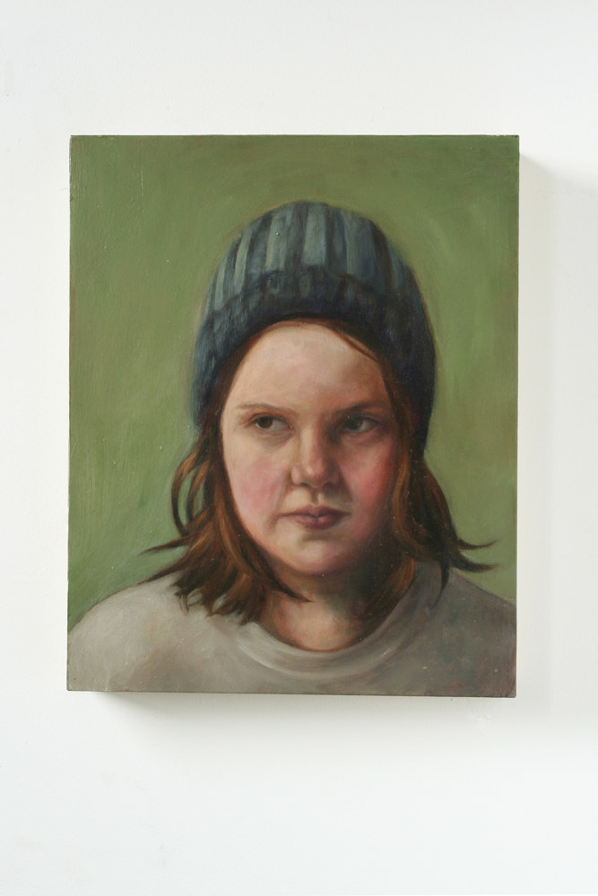 Oil painting Angry Girl by Mary Hayes
