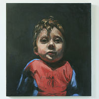 Oil painting Spiderman by Mary Hayes