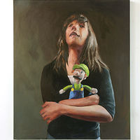 Oil painting Luigi by Mary Hayes