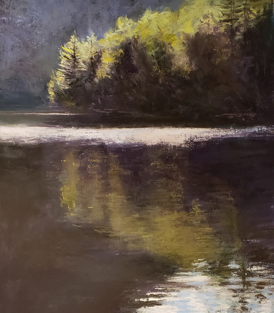 Quiet Waters 11x14 pastel by Michael Gaudreau