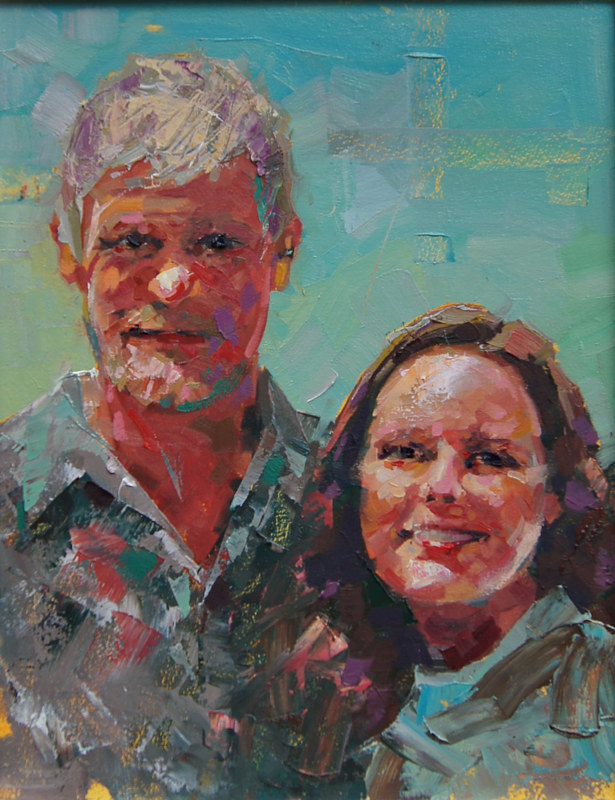 Kim and Lorne Oil 12x16 2012 by Brian  Buckrell