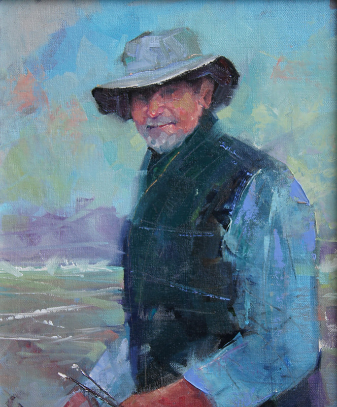 Self Portrait Three Oil 11x14 2012 by Brian  Buckrell