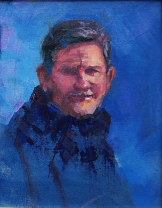Self Portrait Two  Oil 11x14 2012 by Brian  Buckrell