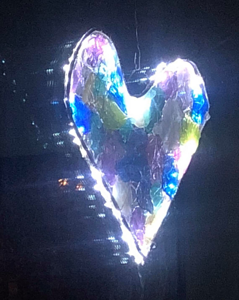 Front Window Heart wLED lights by Steven Simmons