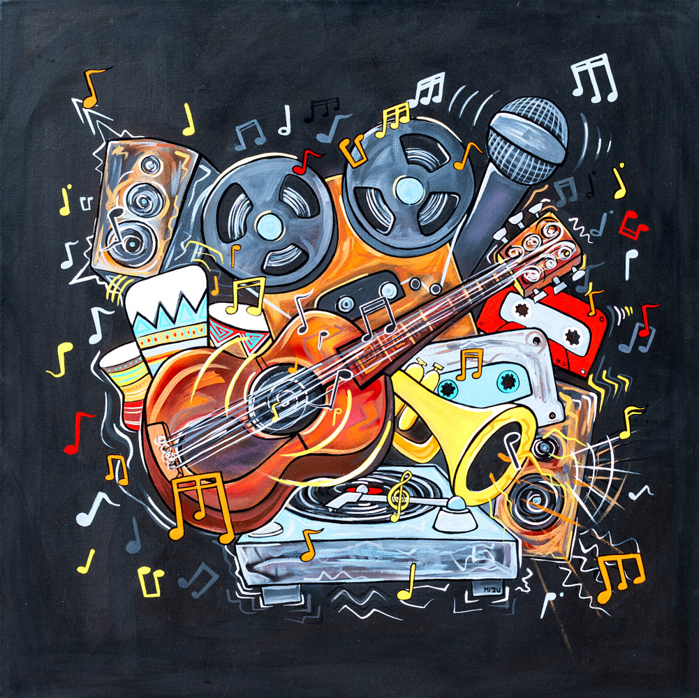 Acrylic painting The Color of Music by Isaac Carpenter