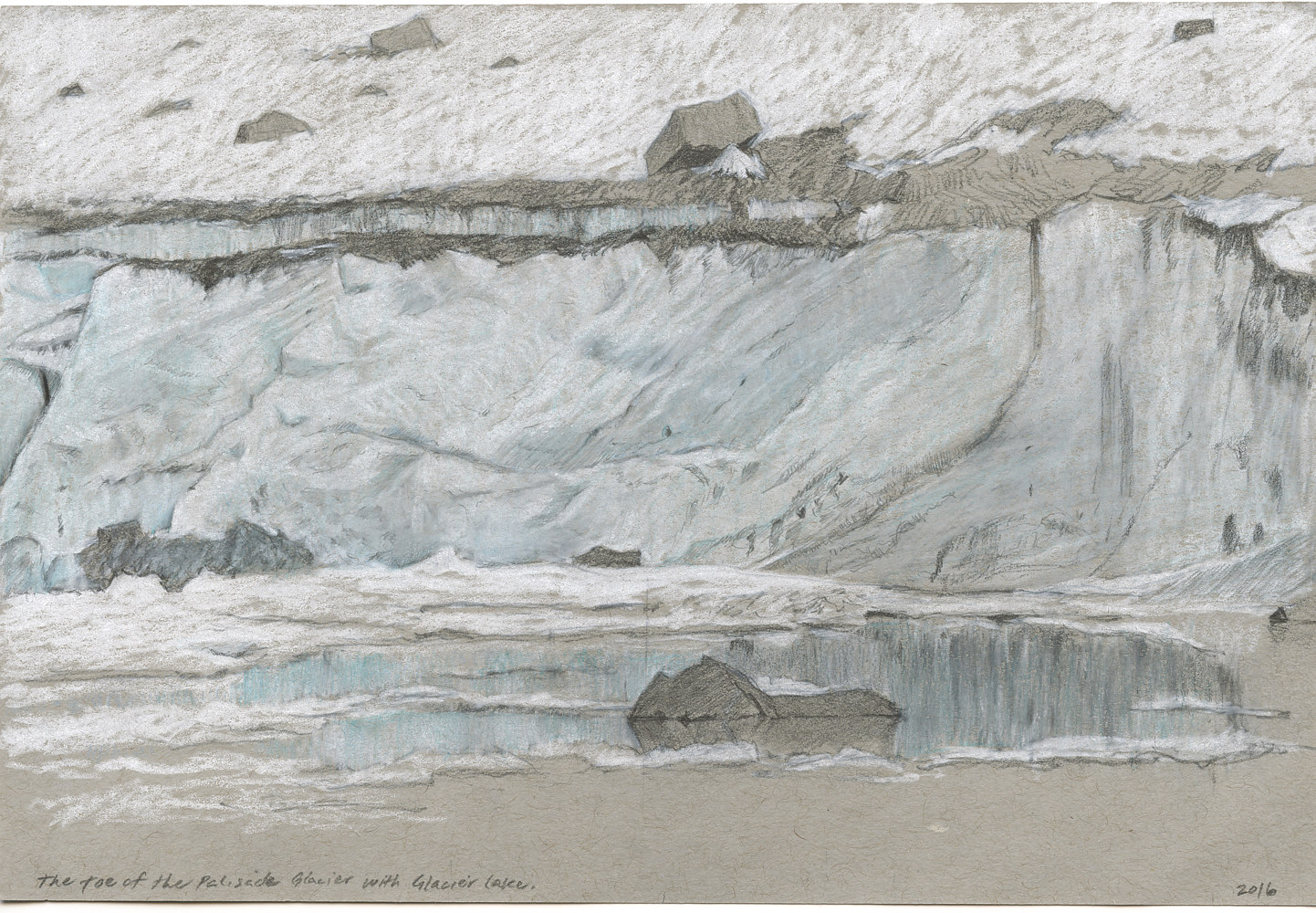 Drawing Toe of the Glacier by Amie Rangel