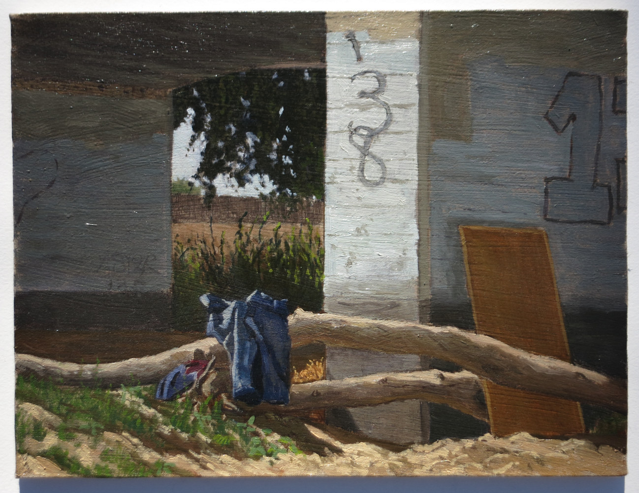 Oil painting St Johns Riverbed at Ben Maddox Way by Amie Rangel
