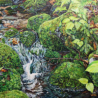 Oil painting A Mossy Brook by Michael McEwing