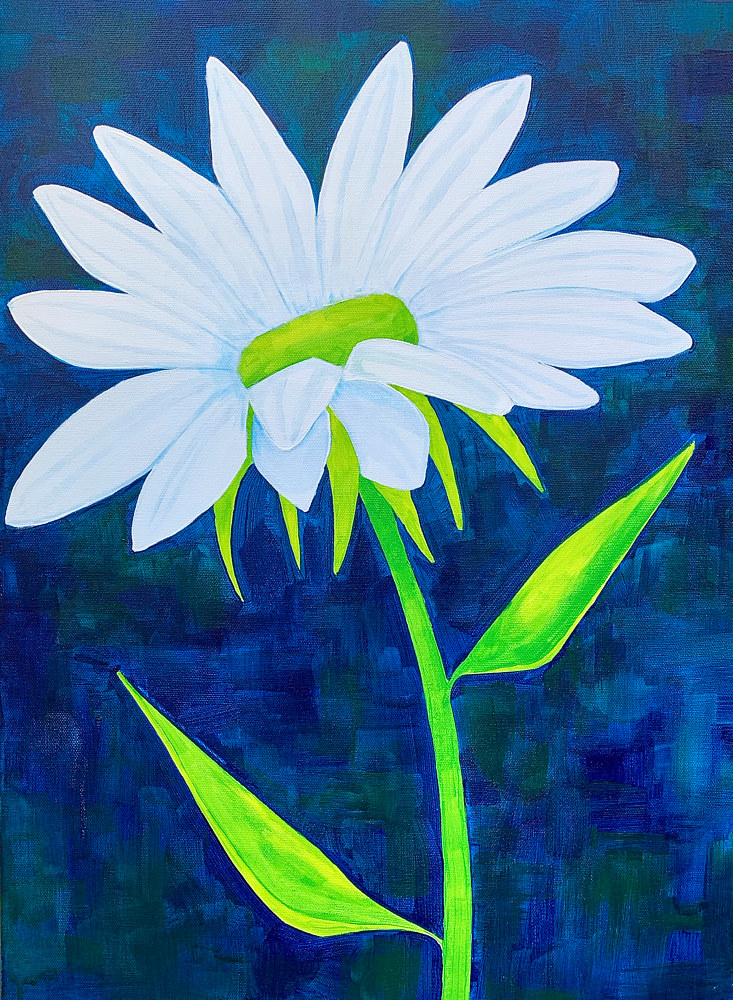 Acrylic painting No Worries by Donna Howard