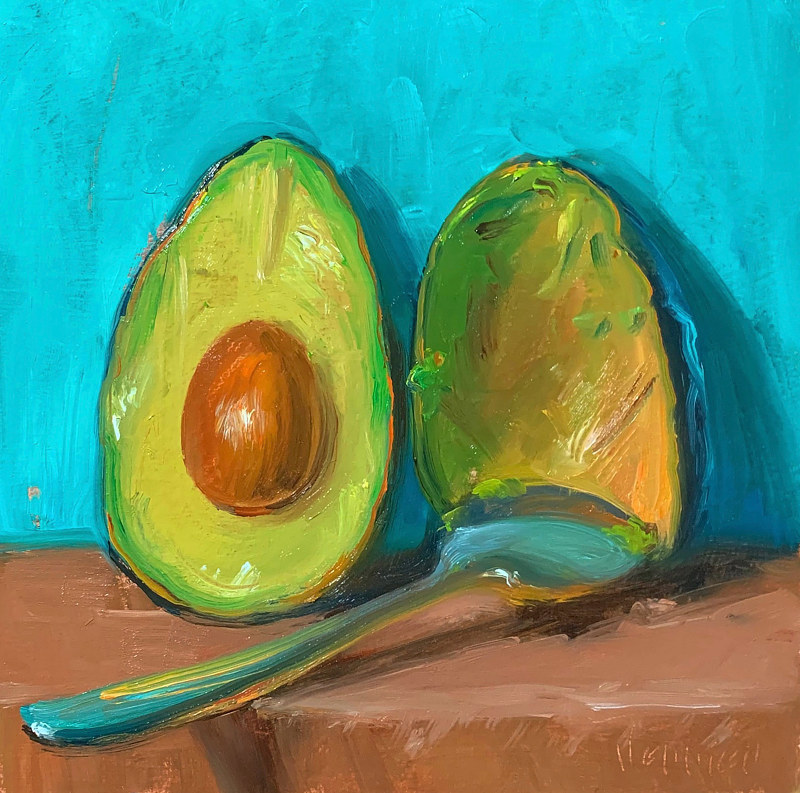 """Avocado w/Spoon"" by Noah Verrier"