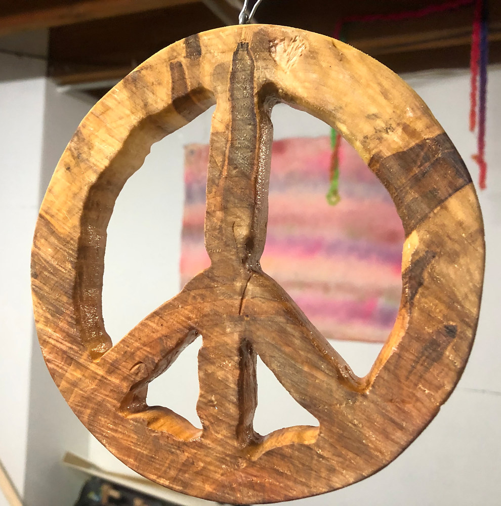 Maple Peace Sign #2 by Steven Simmons
