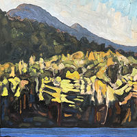 Haystack from Upper Lake 16x12 by Edward Miller